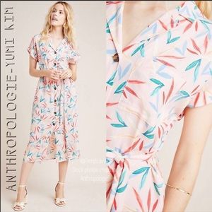 NWT ANTHROPOLOGIE YUMI KIM MIDI SHIRTDRESS DRESS